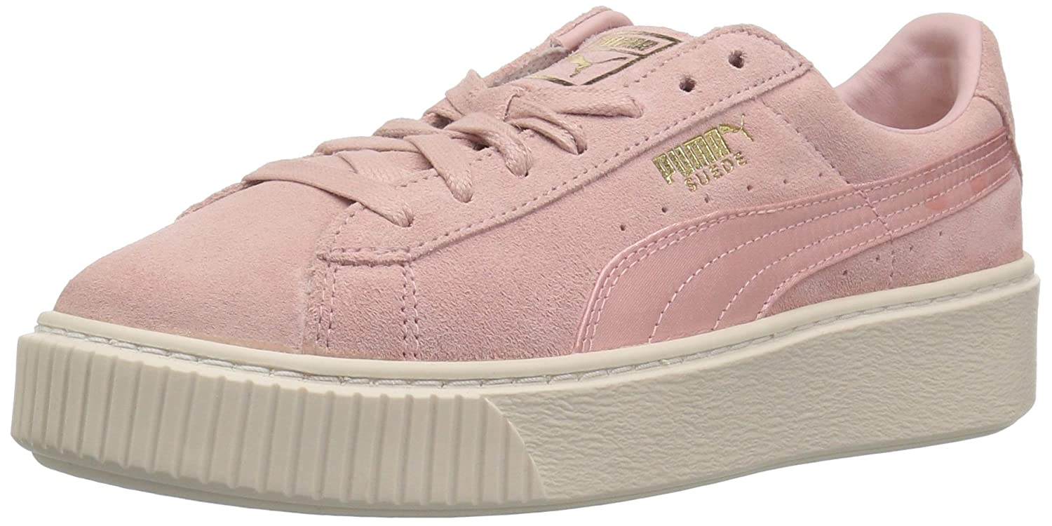 more photos official supplier sale uk PUMA Women's Suede Platform Mono Satin