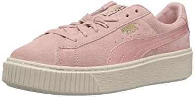 puma damen sneaker suede platform mono satin