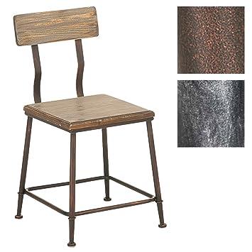 CLP Chaise Design Industriel Queens Avec Dossier 4 Pieds Bois Mtal