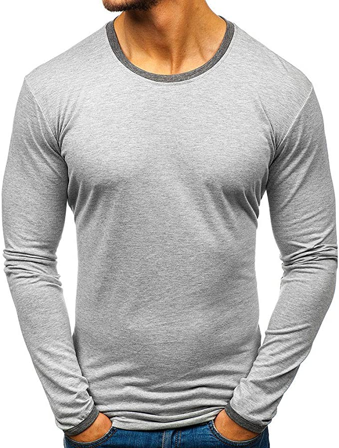 Short Sleeve T Shirts for Men Casual Summer Solid Color Splice Hem Top Blouse