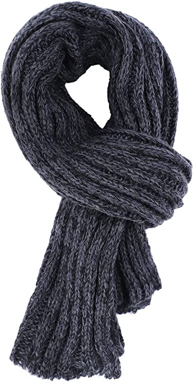 Mens Fashion Scarves Winter Wool Knitted Cashmere Thick Warm Knit Long Scarf