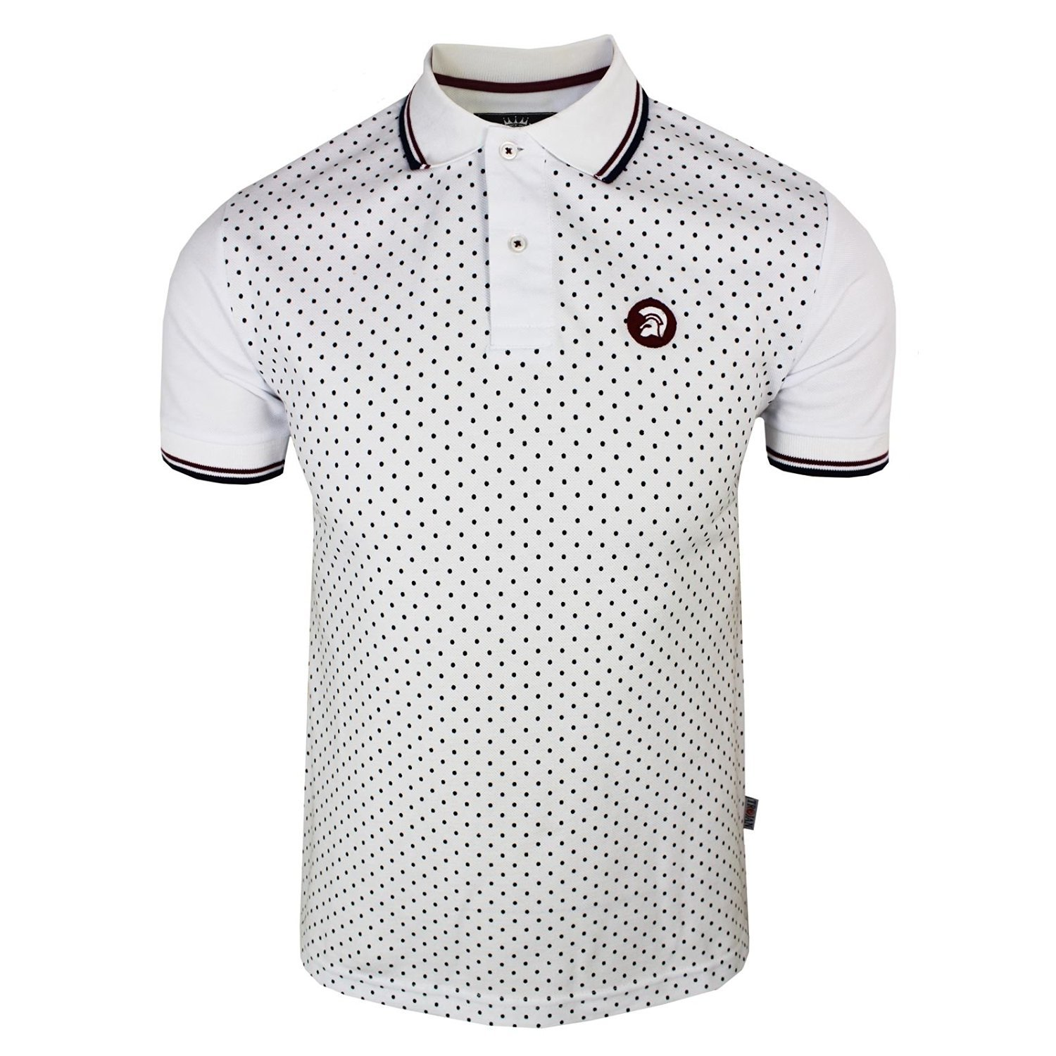 Trojan Records polo Dot frontal para hombre blanco Top blanco ...