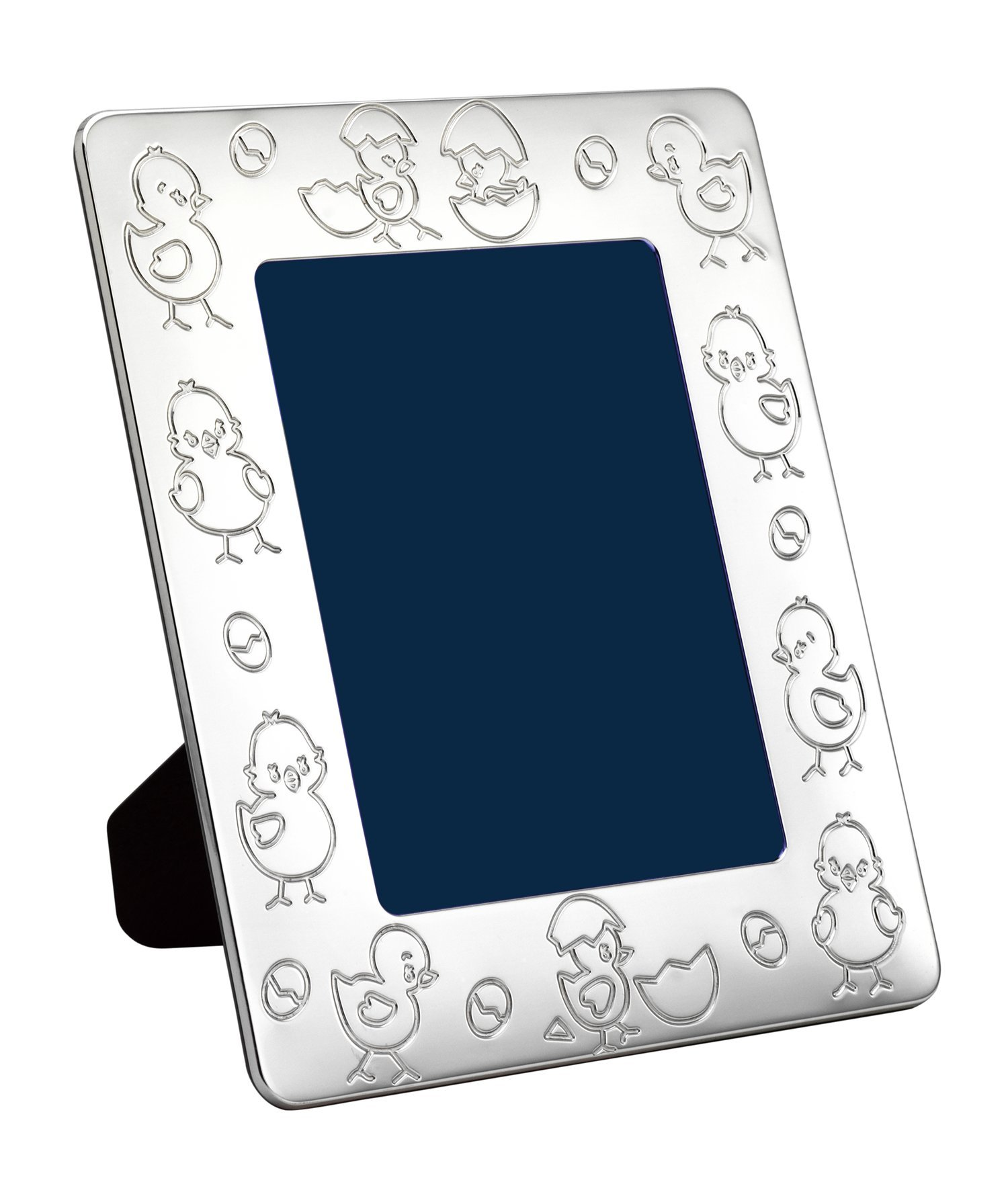Cunill Silver Little Chicks Frame for 4 by 6-Inch Photograph, Sterling Silver