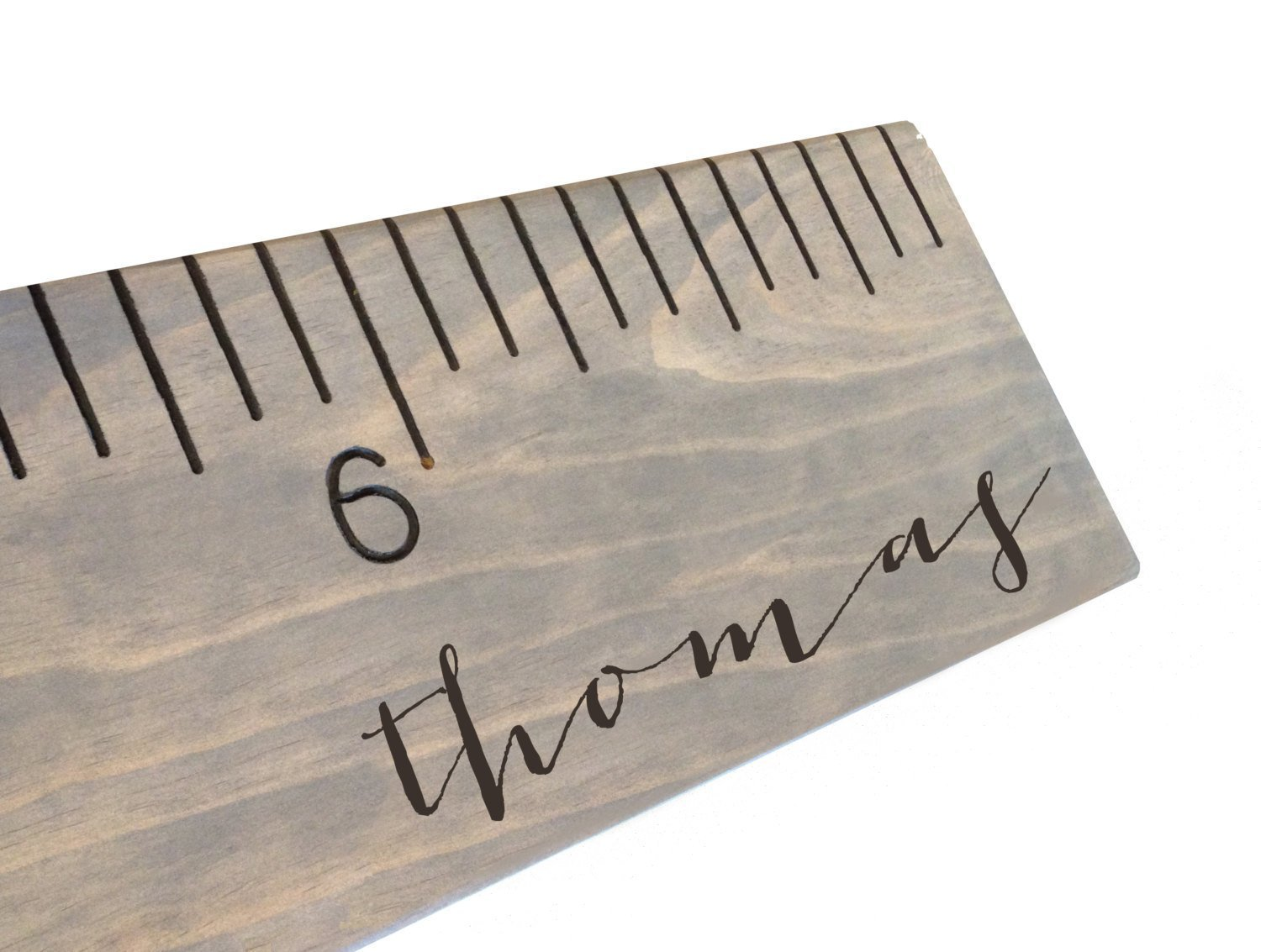 custom engraved calligraphy growth chart, personalized wooden ruler, measuring height stick, routed by Half Pint Ink Studio (Image #6)