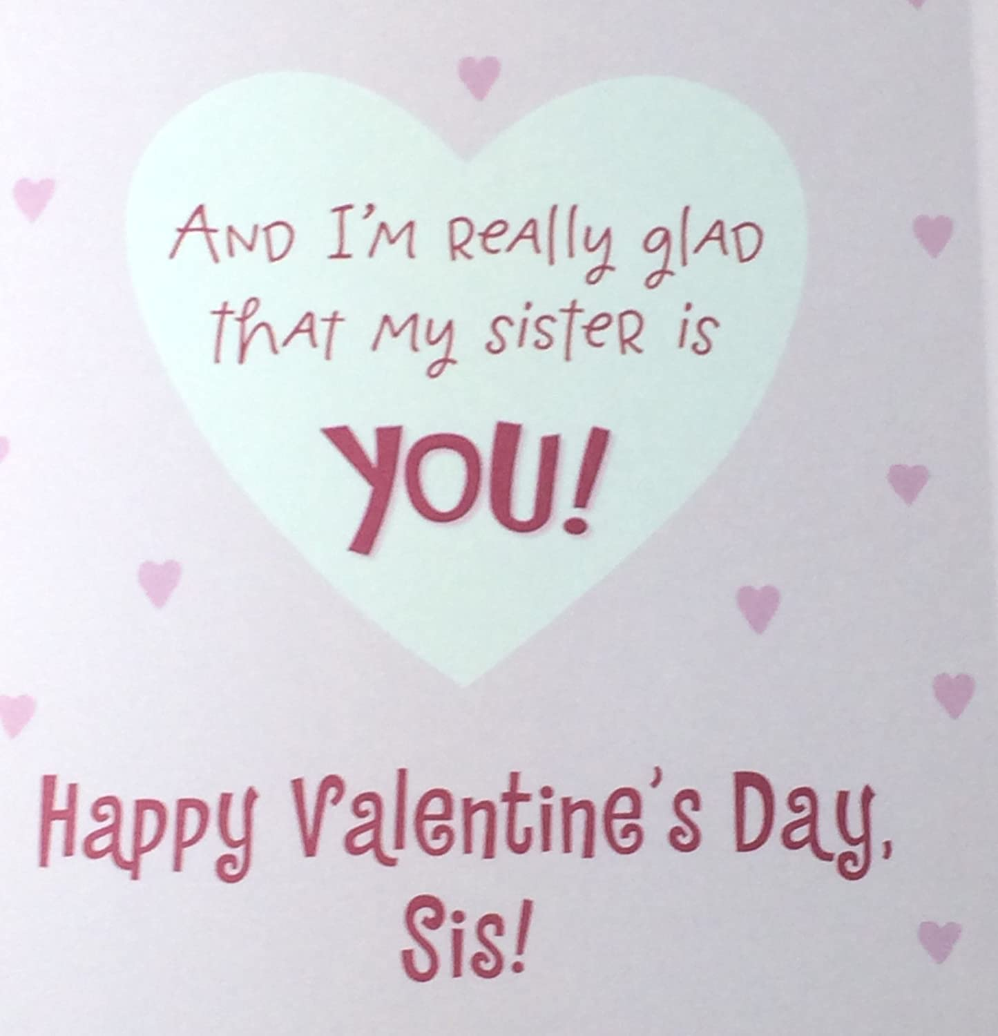 amazon com valentine card for sister funny some sisters a poem