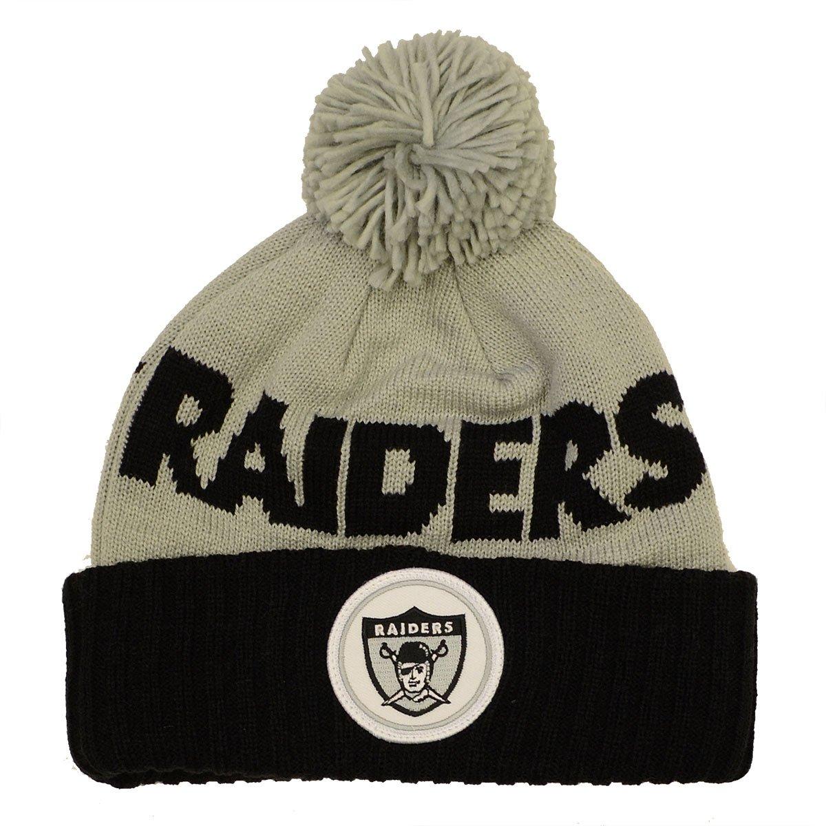 Mitchell & Ness NFL Throwback Cuffed Pom Knit Hat