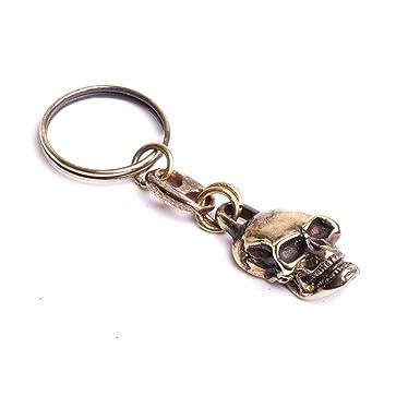 1c9d1e629a9 Porte clef tête de mort de face fonderie métal fabrication Française   Amazon.fr  Vêtements et accessoires