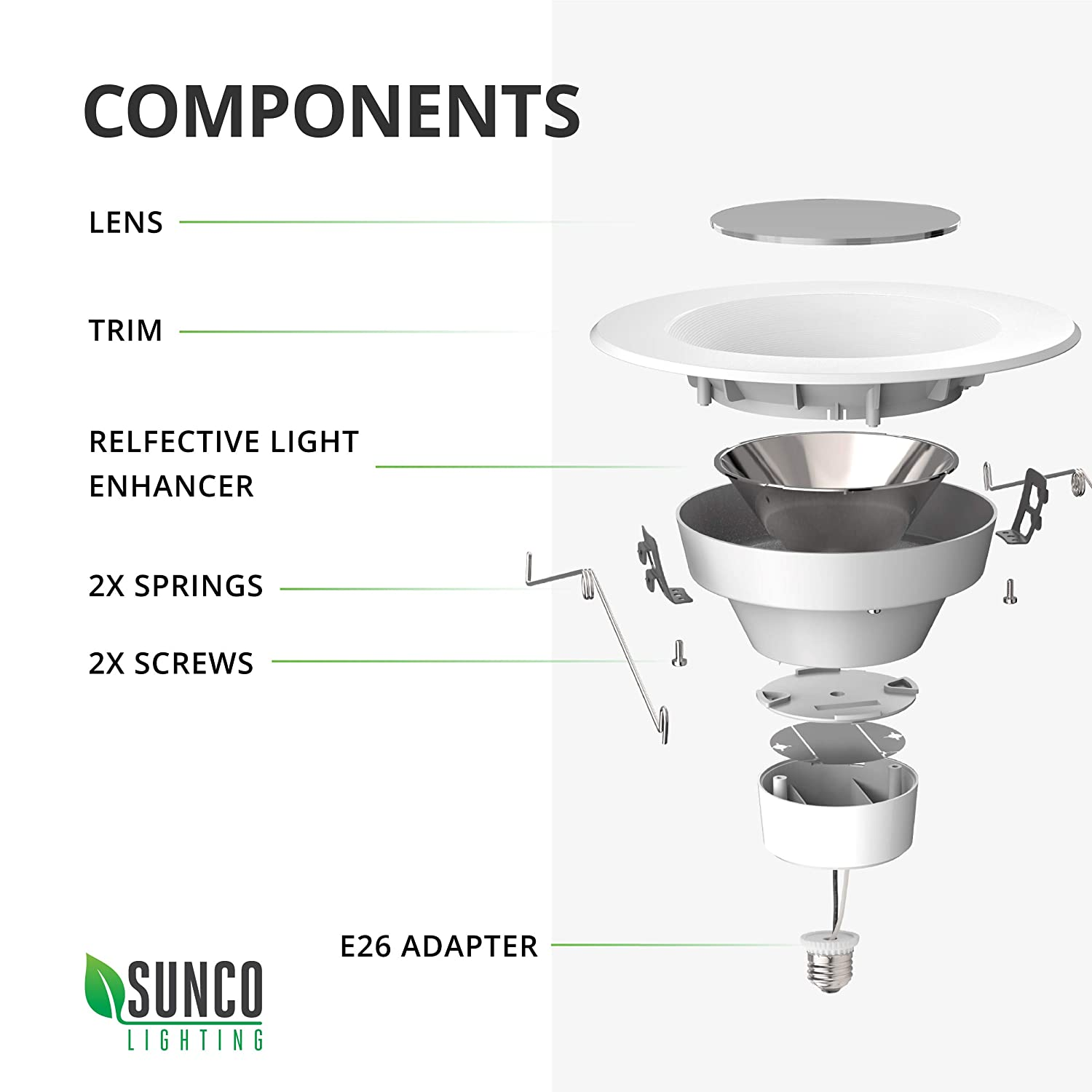 Sunco Lighting 12 Pack 5//6 Inch LED Recessed Downlight Simple Retrofit Installation Energy Star UL Damp Rated Baffle Trim 4000K Cool White 13W=75W Dimmable 965 LM