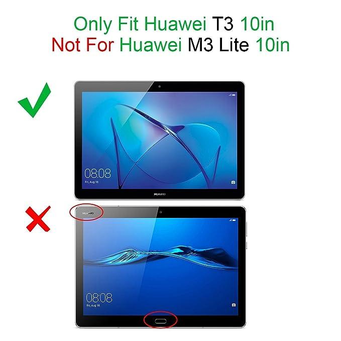 9d4bd052ac6 ELTD Huawei MediaPad T3 10 Funda Carcasa, Ultra Delgado Silm Stand Función  Smart Fundas Duras Cover Case para Huawei MediaPad T3 10 Tableta (Negro):  ...