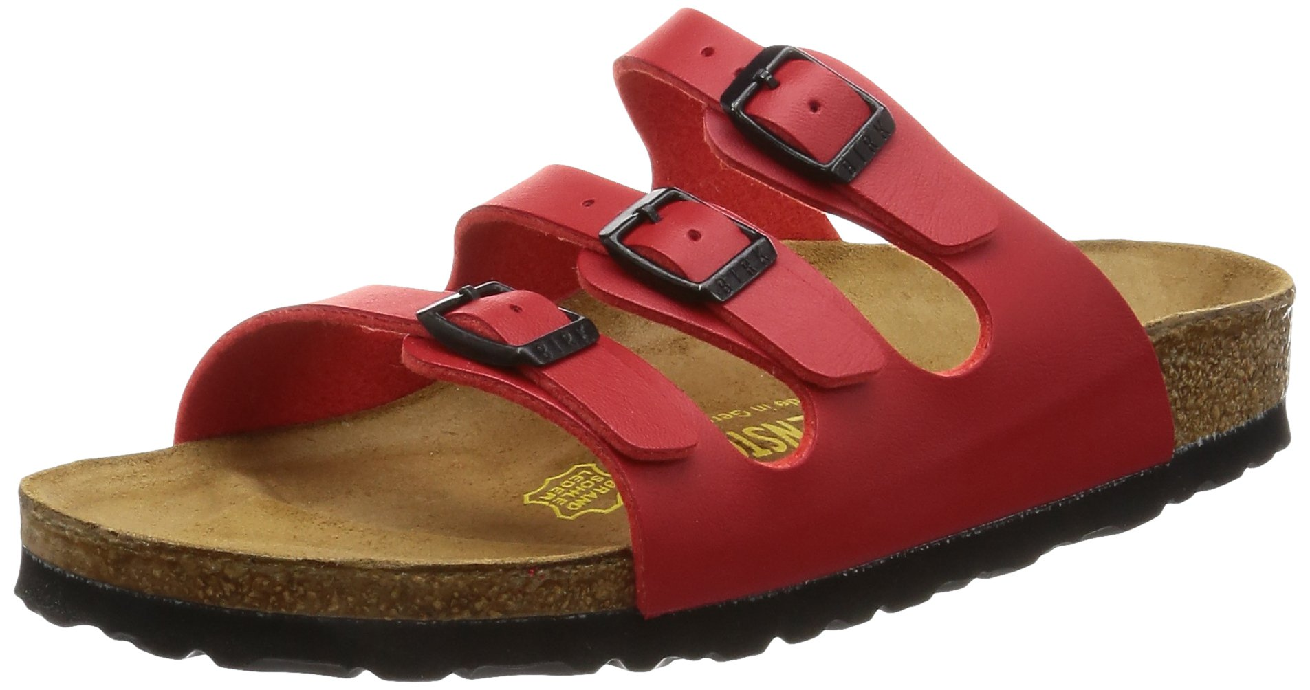 Birkenstock womens Florida in Cherry from Birko-Flor Sandals 36.0 EU N by Birkenstock