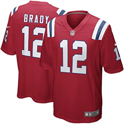 607d19420b1 NIKE Tom Brady New England Patriots Youth Boys Throwback Game Jersey - Red  (Youth Medium