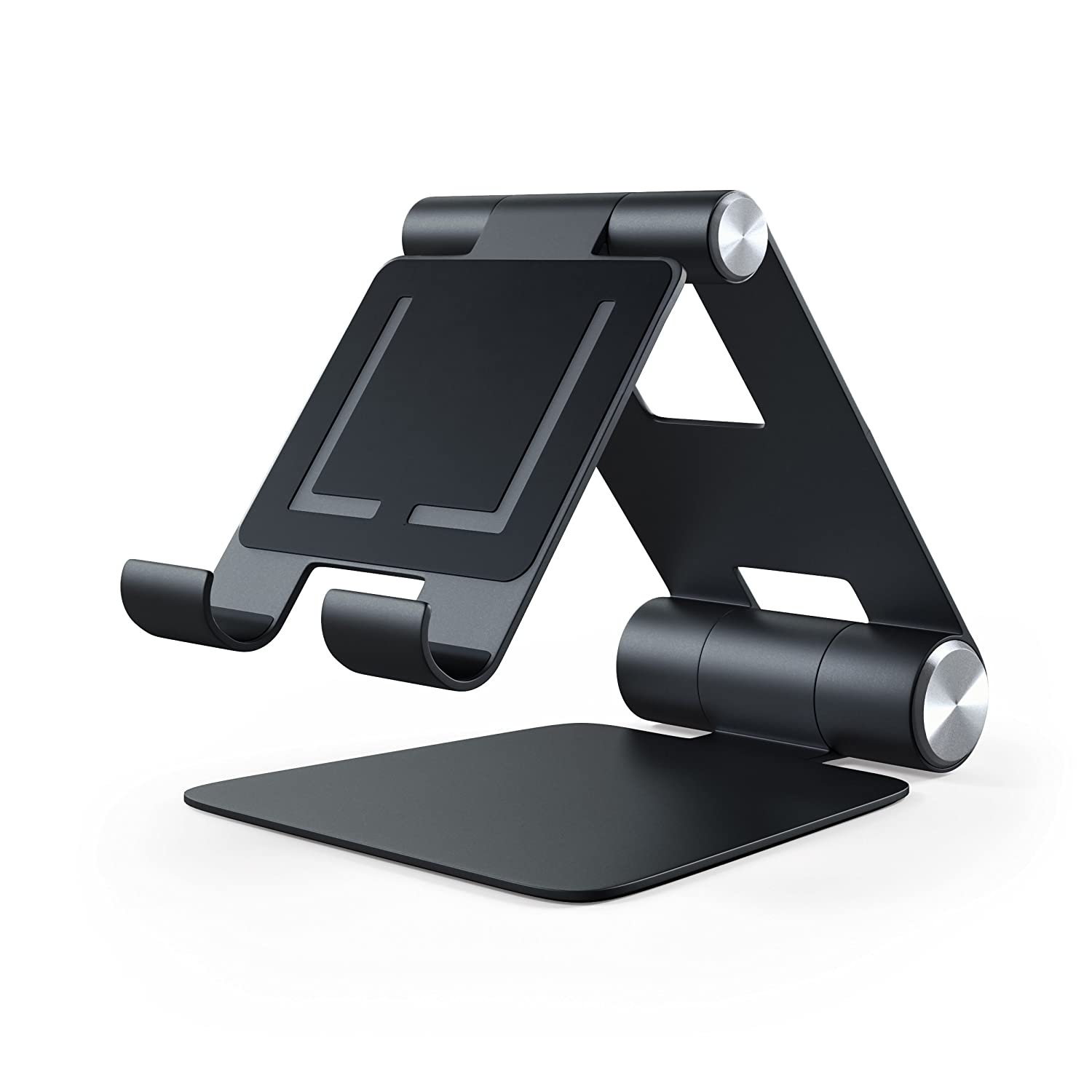 8 iPhone Satechi R1 Aluminum Multi Angle Foldable Tablet Stand compatible with iPad Samsung S8 8 Plus MacBook 2015//2016 and more Silver