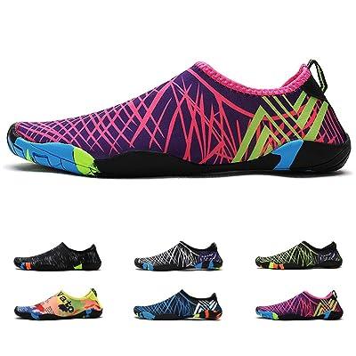 Deyuan Quick-Dry Water Shoes Aqua Socks Barefoot for Outdoor Beach Swim Surf, Anti-Slip Shoes for Men/Women/Kids | Water Shoes
