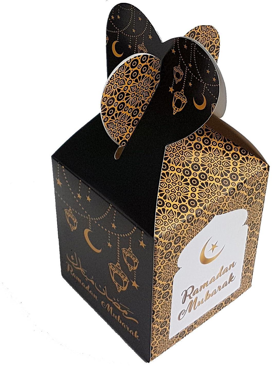Islam Eid Ramadan Muslim Celebration Treat Party Boxes Red Ornate Gift Box Pack Święta i specjalne okazje