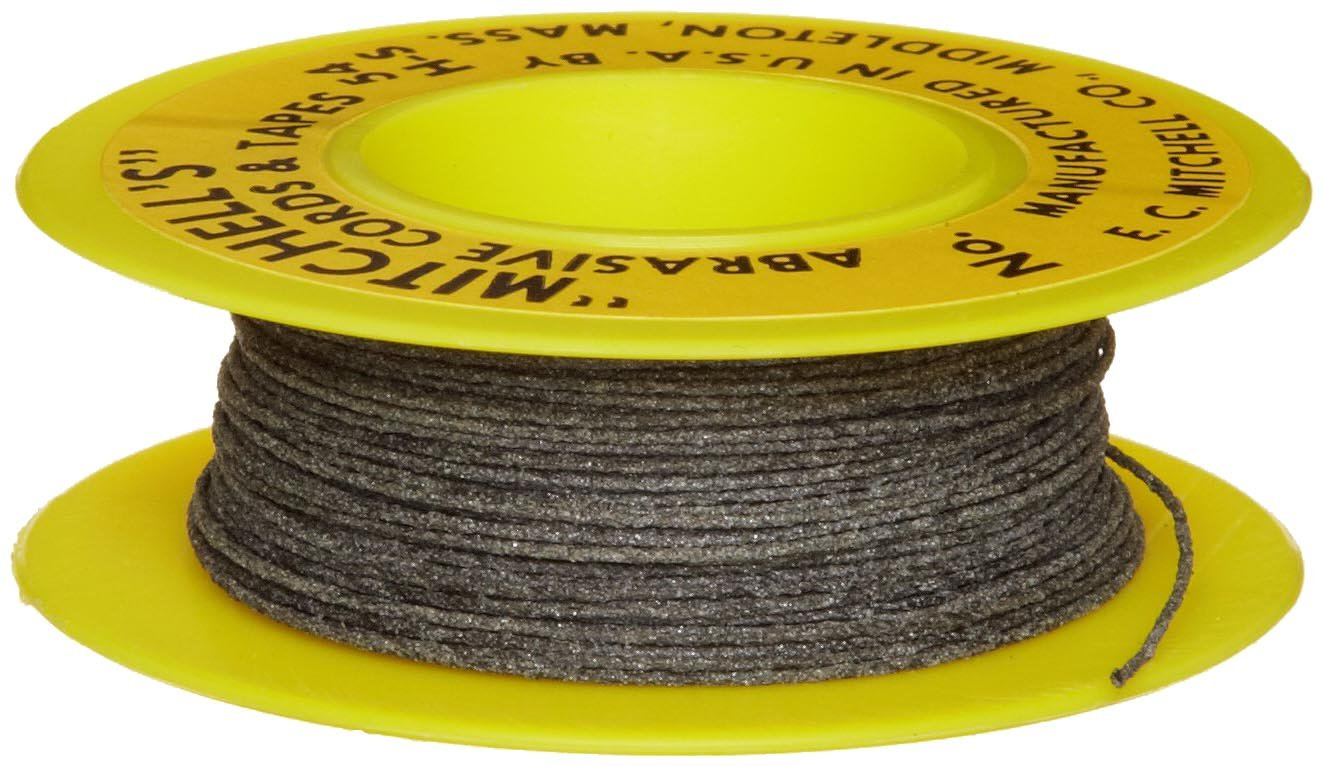 Mitchell Abrasives 54H-S Round Abrasive Cord, Silicon Carbide 180 Grit .025'' Diameter x 25 Feet by Mitchell Abrasives