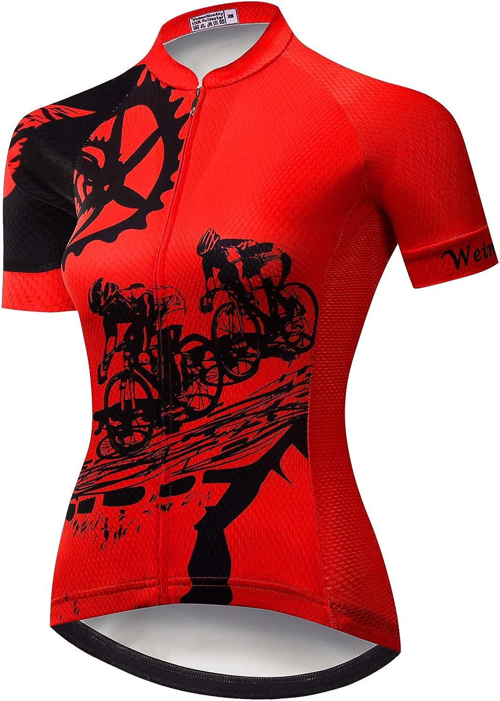 Camiseta de ciclismo para mujer de ciclismo de verano de la bicicleta de la ropa de ciclismo MTB niña camisetas de ciclismo Top