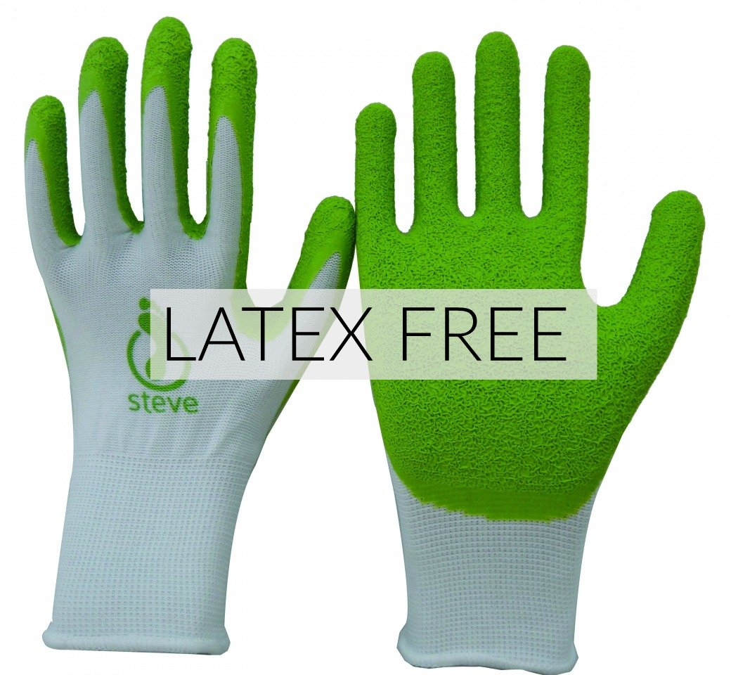 Steve Gloves LATEX FREE for compression stocking application. Aid for donning and doffing (Large)