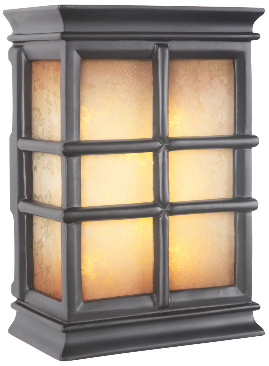 Craftmade ICH1505 BK Hand Carved Window Pane Lighted Chime