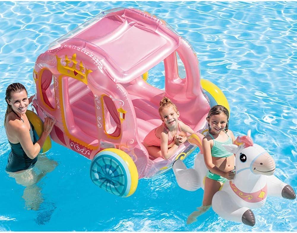 SLONG Inflable Carro de la Piscina Flotador de la Piscina 270 * 190 * 170 CM Playa de Verano Fiesta en la Piscina salón balsa Decoraciones Juguetes niños Adultos