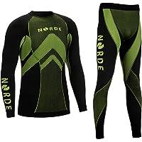 Norde Conjunto de ropa interior funcional para hombre [Termoactiva + Transpirable] capa base para deportes al aire libre