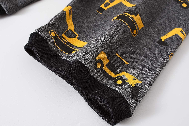 Boys Pajamas 100/% Cotton Lion Short Kids Snug Fit Pjs Summer Toddler Sleepwear