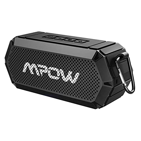 Mpow R8 Bluetooth Speaker, Portable Indoor Outdoor Wireless Speaker  Bluetooth V8.8, HD Stereo&Bass, IPX8 Water-Resistant, Support AUX in,  8-Hour