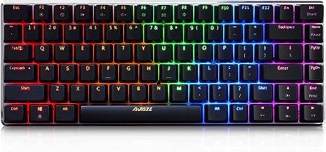 DEPRQ Mechanical Gaming Keyboard Outemu Red Blue Switch 87 Key NKRO RGB Backlit Mechanical Gaming Computer Keyboard Color : Black, Size : Blue Switch
