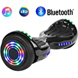 "NHT 6.5"" Wheel Hoverboard Electric Smart Self Balancing Scooter with Bluetooth Speaker - UL2272 Certified, Black/Blue / Pink/Red / White"