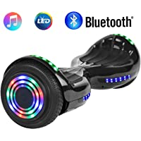 """NHT 6.5"""" Wheel Hoverboard Electric Smart Self Balancing Scooter with Bluetooth Speaker - UL2272 Certified, Black/Blue / Pink/Red / White"""