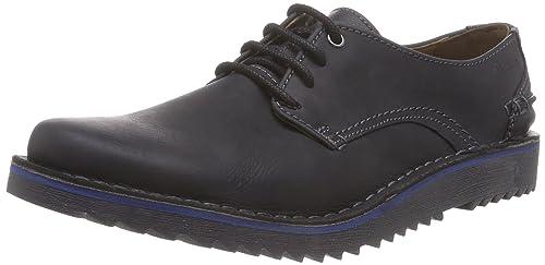 Clarks Men's Remsen Limit Brogue Lace-up Half Shoe Black Size: 6.5