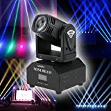 Lixada Mini Moving Head Sound Activated RGBW Stage Light master-slave auto running 11/13 channels Beam Light for party…