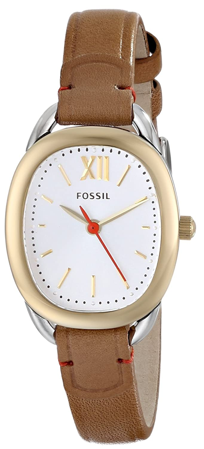 Fossil Womens Es3558 Sculptor Stainless Steel Watch Es3380 Original Boyfriend Chronograph Rose Tone With Brown Leather Band Watches