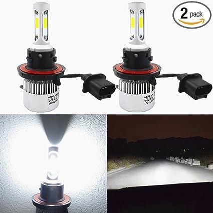 Alla Lighting 8000lm 9008 H13 LED Headlight Bulbs Xtreme Super Bright CSP Bulb Xenon
