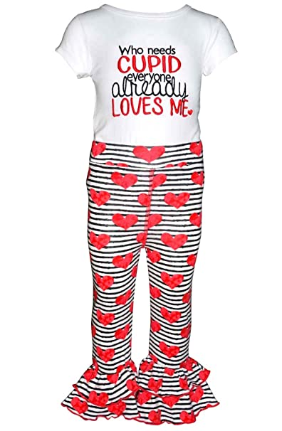 009bc8955 Unique Baby Girls Who Needs Cupid Valentine's Day Outfit (2t) White