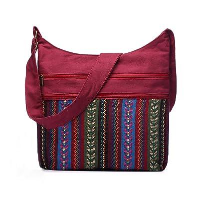 d80b11d54d4 Women Shoulder Bag Gypsy Bohemian Hobo Bag Folk Tribal Woven Crossbody  Messenger Bag