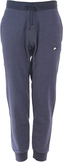 Nike AW77 Open Hem Fleece Pant Game Royal Black 598867 481 Mens Slim