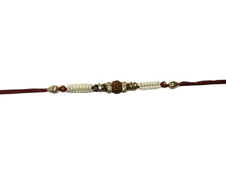 Set of Two Rudraksha Rakhi Thread Raksha bandhan Gift for your Brother Color Vary and Multi Design