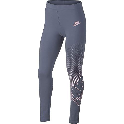 Nike G NSW Favorite Gx1 Mallas, niña, Ashen Slate/Rosa, Small