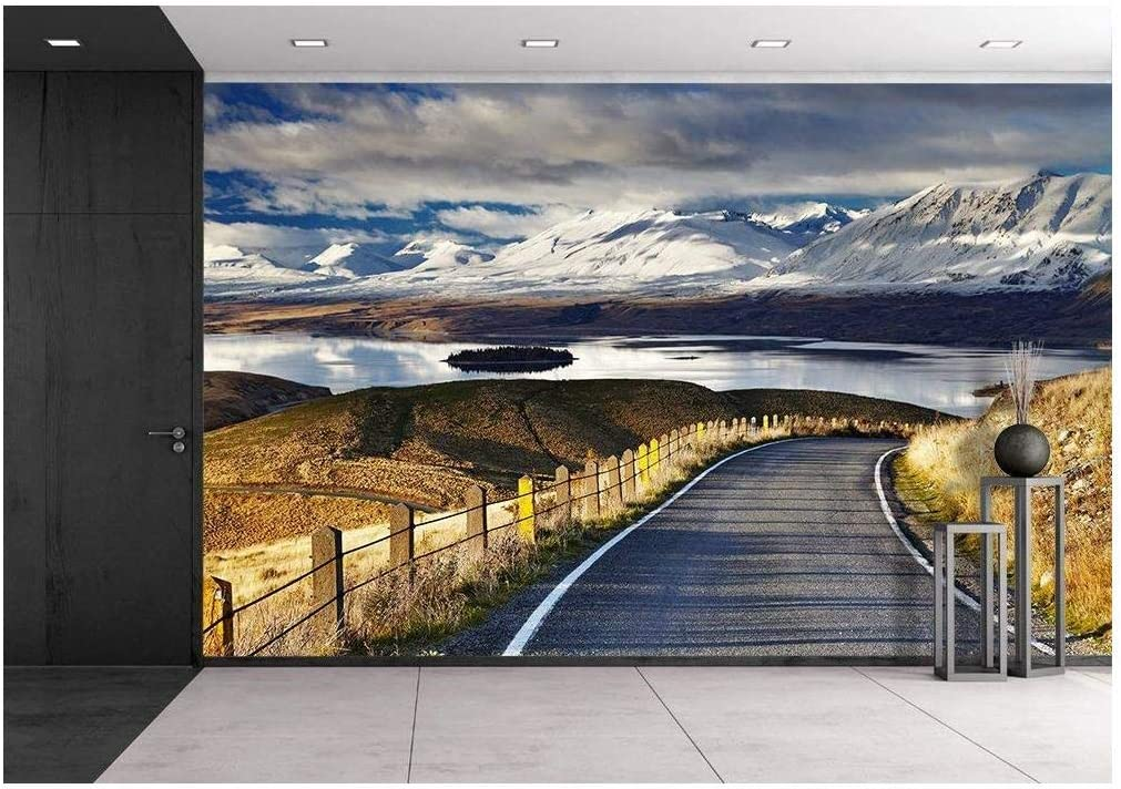Removable Wall Mural New Zealand Beautiful Lake Southern Alps wall26 Self-adhesive Large Wallpaper