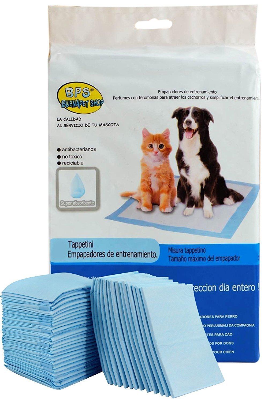 BPS® Empapadores de Entrenamiento para Perros Gatos Perfumes con Feromonas para Atraer los Cachorros y Simplificar el Entrenamiento (60pcs 60 * 60pcs) ...