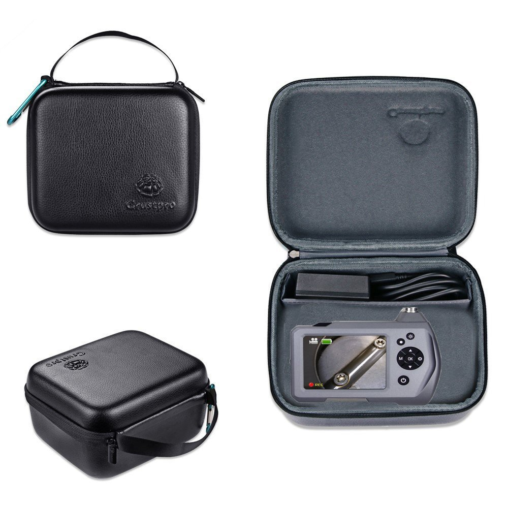 Carry Camera Case for Borescope Depstech USB, Wireless Endoscope,Teslong 3.5 Inch LCD Screen Bor for Goodan, Shekar, Pancellent, Sokos, BlueFire with pockets for accessories like USB, Side View Mirror