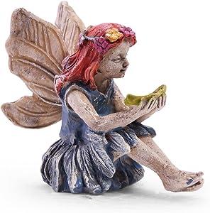 Sugar House Miniature Fairy Figurine Statue – Garden Décor Accessories Fairies (Amy)