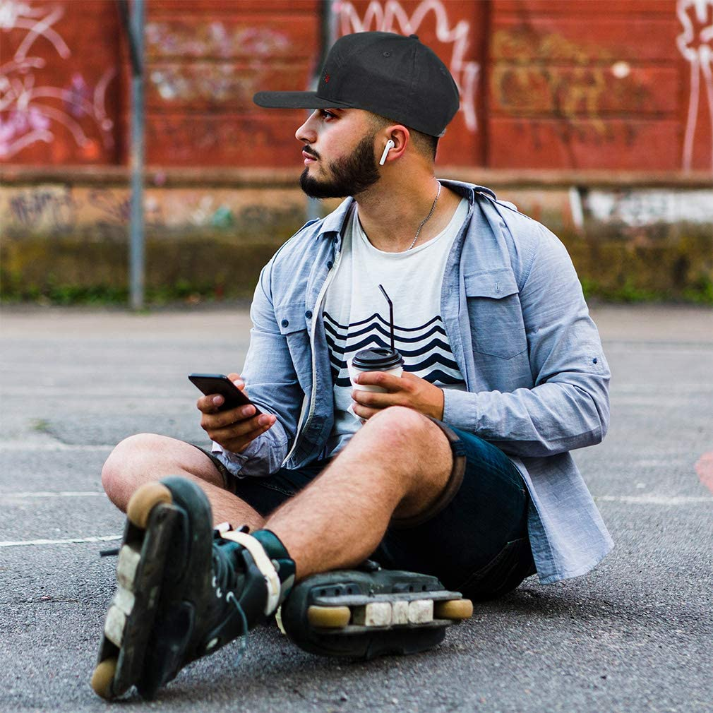 Snapback Hats for Men /& Women Dog Bichon Frise Lifeline Embroidery Cotton Black