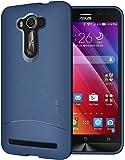 TUDIA Ultra Slim Full-Matte ARCH TPU Bumper Protective Case for Asus ZenFone 2 Laser 5.5 Inch (ZE550KL) [Not For ZE601KL 6.0 Inch] (Blue)