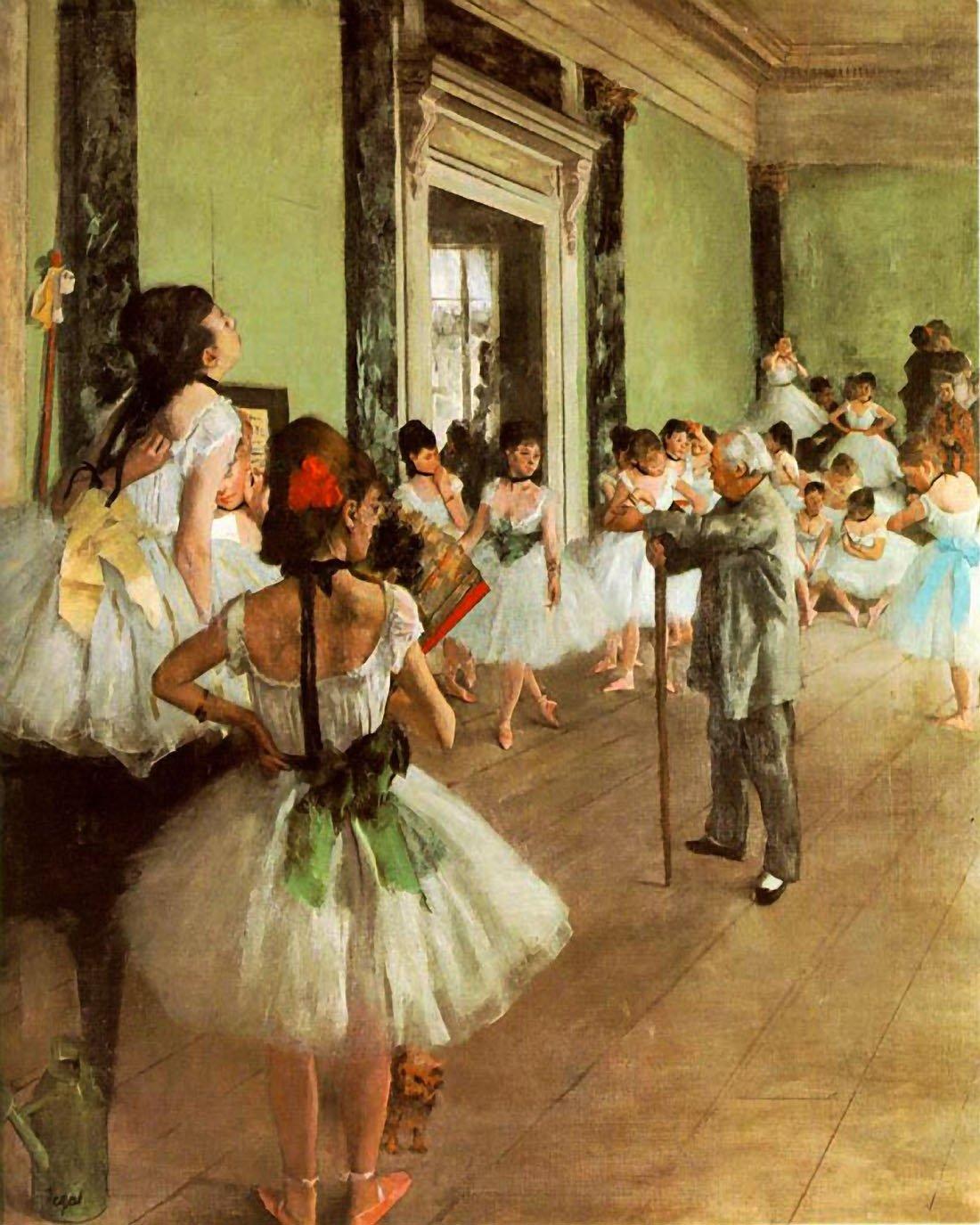 La Classe de Danse Degas – キャンバスまたは壁アートプリント Fine Paper - 32 x 40 Fine Paper - 32 x 40  B008GWP5TU