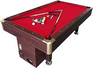 Mesa de billar juegos de billar pool 7 ft Modelo ARES Rojo ...