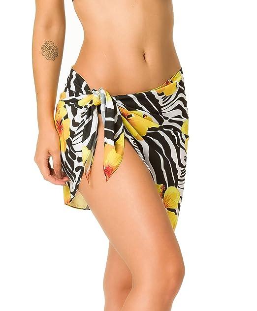 7cf6b9a19f2 Coqueta Swimwear Chiffon Cover up Beach Sarong Pareo Canga Swimsuit Wrap  Bali