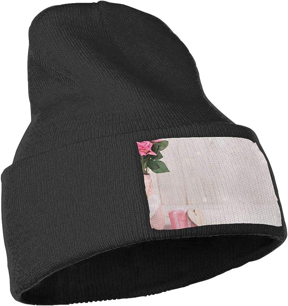 QZqDQ Pink Flower Unisex Fashion Knitted Hat Luxury Hip-Hop Cap