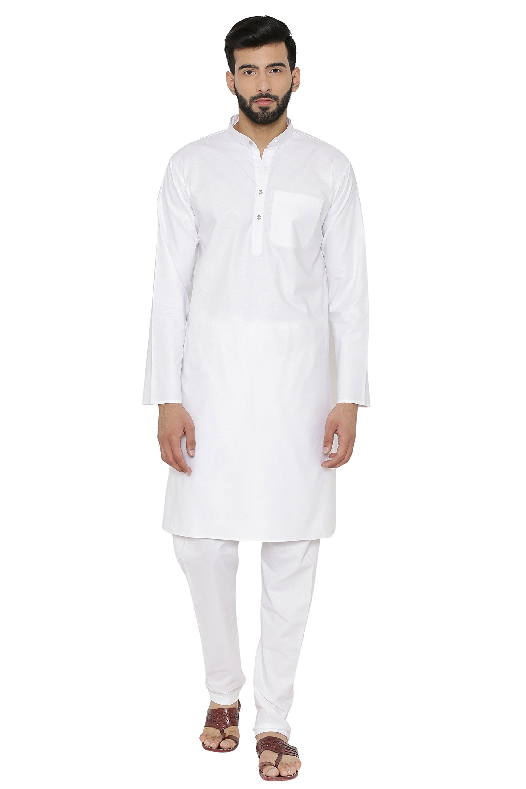 WINTAGE Men's 100% Cotton Khadi Tailored Fit Party/Festive Indian Kurta Pajama Pyjama Sleep Sets