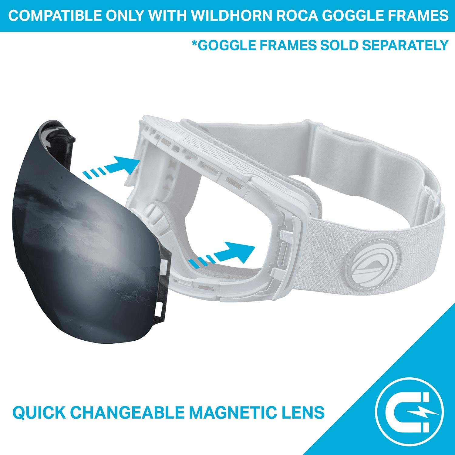 WildHorn Outfitters Roca Extra//Replacement Frameless Snow Goggle Lens
